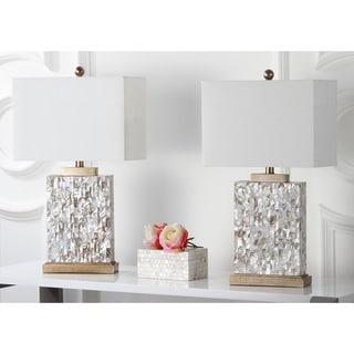 Safavieh Lighting 25-inch Tory Sea Shell Table Lamps (Set of 2)