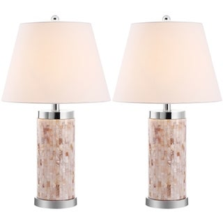 Indoor 1-light Diana Sea Shell Table Lamps (Set of 2)