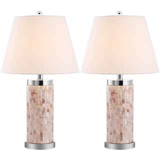 Safavieh Indoor 1-light Diana Sea Shell Table Lamps (Set of 2)