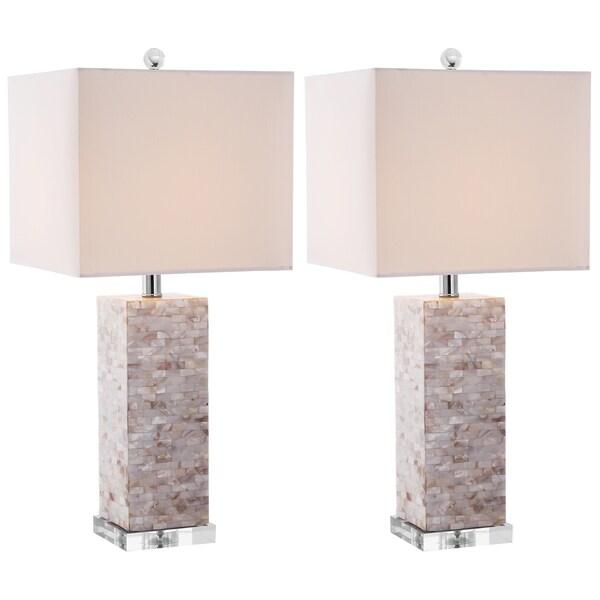 Safavieh Indoor 1-light Homer Sea Shell Table Lamps (Set of 2)