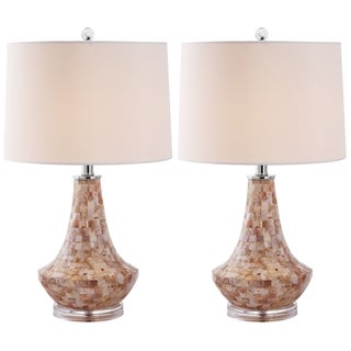 Indoor 1-light Kobe Sea Shell Table Lamps (Set of 2)
