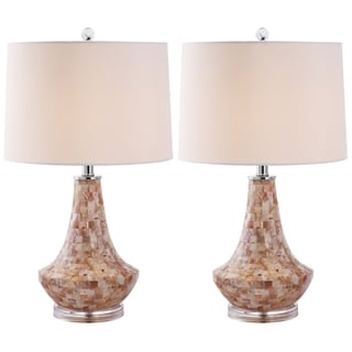 Safavieh Indoor 1-light Kobe Sea Shell Table Lamps (Set of 2)