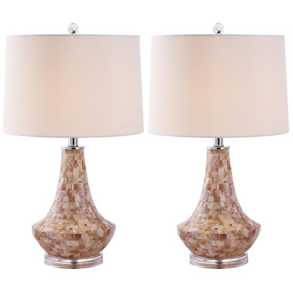 Safavieh Indoor 1-light Kobe Sea Shell Table Lamps (Set of 2)