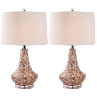 Safavieh Lighting 24-inches Kobe Sea Shell Table Lamps (Set of 2)