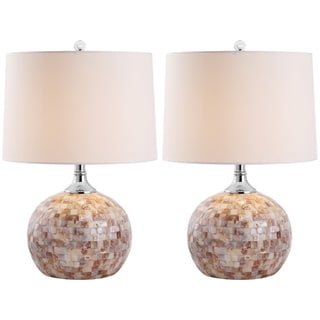 Indoor 1-light Nikki Sea Shell Table Lamps (Set of 2)