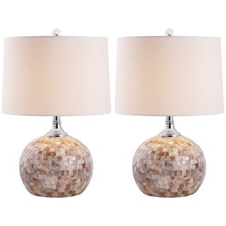 Safavieh Indoor 1-light Nikki Sea Shell Table Lamps (Set of 2)
