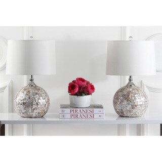 Safavieh Lighting 21.5-inches Nikki Sea Shell Table Lamps (Set of 2)