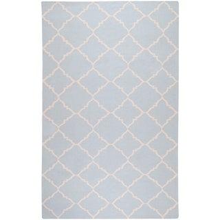 Hand-woven Friesland Grey Wool Rug (9' x 13')