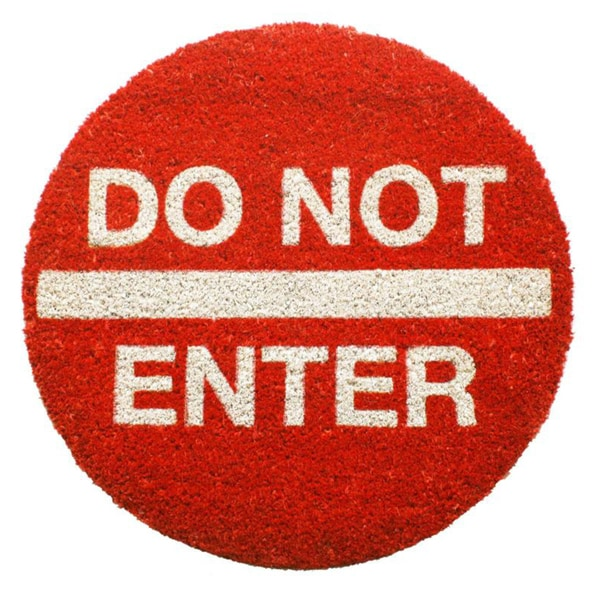Do Not Enter Coir Doormat (1'10 Round)