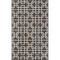 Hand-tufted Sittard Grey Geometric Wool Rug (2' x 3')