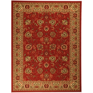 Non-Skid Ottohome Burgundy Floral Traditional Area Rug (5' x 6'6)