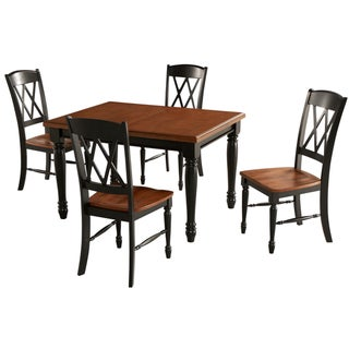 Monarch Rectangular Dining Table and 4 Double X-back Chairs