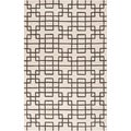 Hand-tufted Stein Grey Geometric Wool Rug (8' x 11')