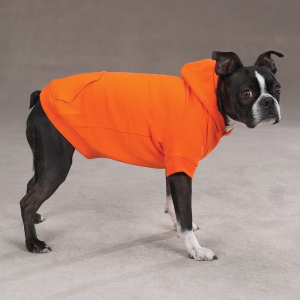 Zack & Zoey Basic Orange Dog Hoodie