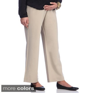 Ashley Nicole Maternity Petite Wide Leg Pants