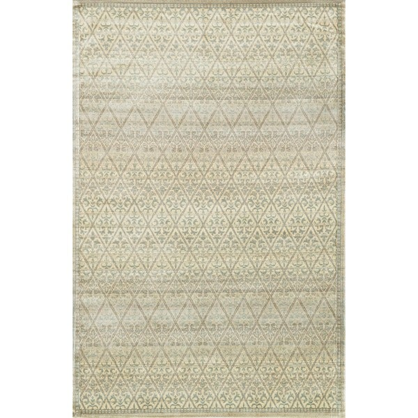 Francis Slate and Gold Rug (3'3 x 5'3)