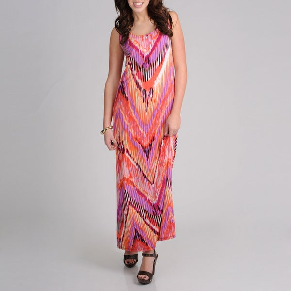 AnnaLee + Hope Women's Aztec Printed Maxi Dress