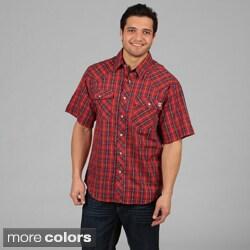 Farmall IH Men's Western Plaid Snap Button Shirt