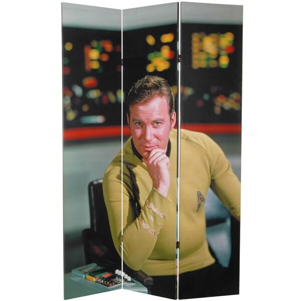 6-Feet Tall Double Sided Star Trek Captain Kirk Canvas Room Divider