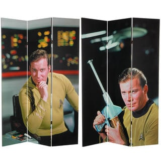 6-Feet Tall Double Sided Star Trek Captain Kirk Canvas Room Divider