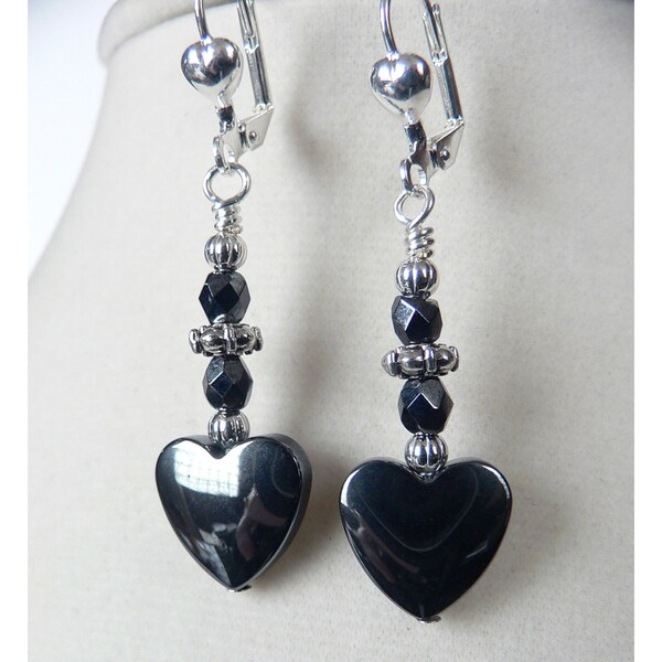 'Zena' Hemalyke Heart Earrings