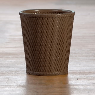 Carter Chocolate Round Wastebasket
