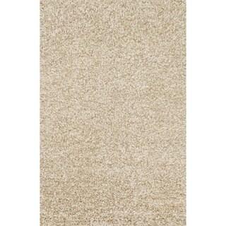 Hand-woven Baxter Beige Shag Rug (3'6 x 5'6)
