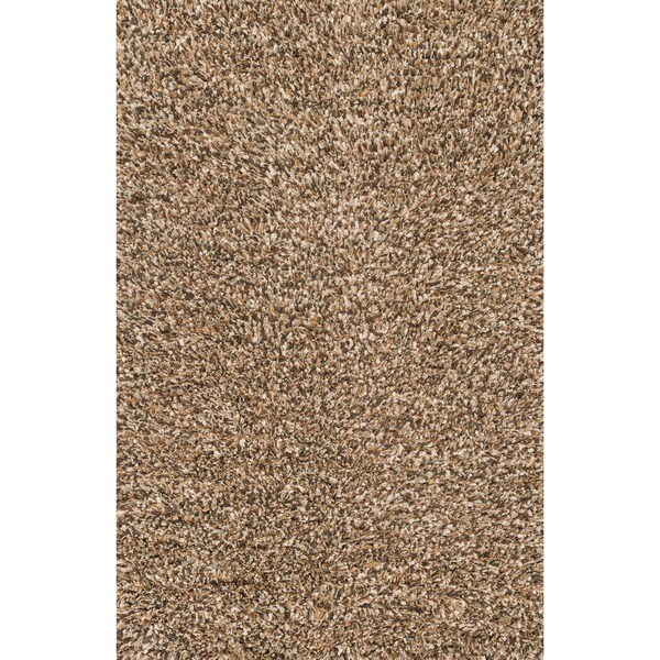 Hand-woven Baxter Brown Shag Rug (7'6 x 9'6)