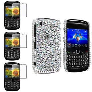 BasAcc Bling Diamond Case/ Screen Protector for BlackBerry Curve 8520