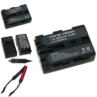 BasAcc Battery Charger/ Li-ion Battery/ Strap for Sony Alpha A850