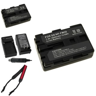 BasAcc Battery Charger/ Li-ion Battery/ Strap for Sony Alpha A100