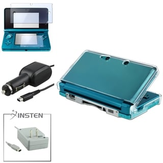 INSTEN Case Cover/ Screen Protector/ Chargers for Nintendo 3DS