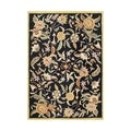 Alliyah Hand Made Black New Zeeland Wool Rug (9 x 12)
