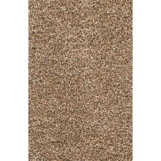 Hand-woven Baxter Brown Shag Rug (9'3 x 13)