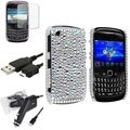 BasAcc Case/ Screen Protector/ Charger for BlackBerry Curve 9300 3G