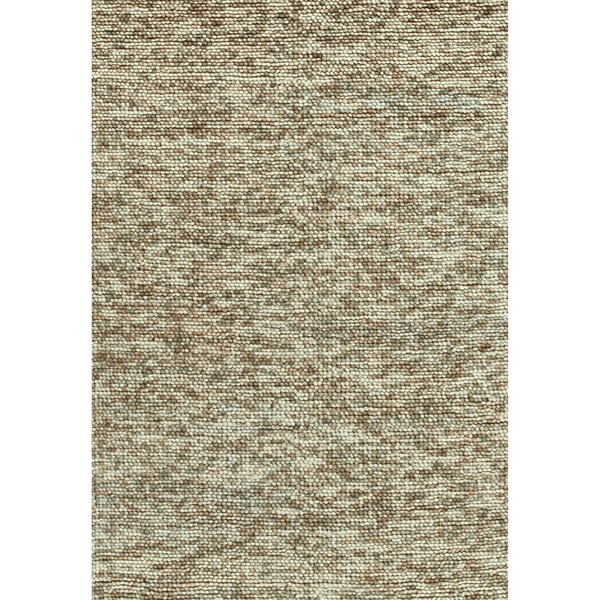 Hand-woven Avani Beige New Zealand Wool Rug