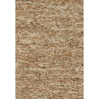 Hand-woven Avani Beige/ Brown New Zealand Wool Rug