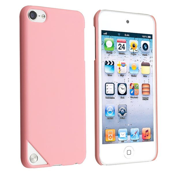 BasAcc Light Pink Rubber Coated Case for Apple iPod Touch Generation 5