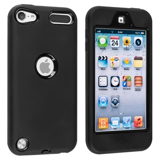 INSTEN Black Hybrid iPod Case Cover for Apple iPod Touch Generation 5