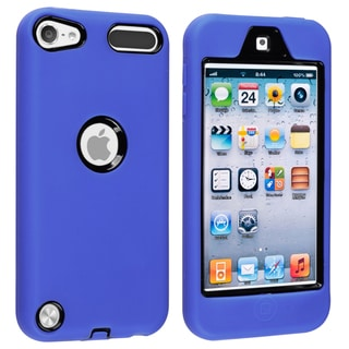 BasAcc Black/ Blue Hybrid Case for Apple iPod Touch Generation 5