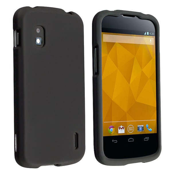 BasAcc Black Snap-on Rubber Coated Case for LG Nexus 4 E960