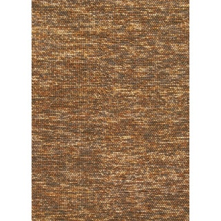 Hand-woven Avani Gold/ Brown New Zealand Wool Rug
