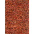 Hand-woven Avani Rust/ Brown New Zealand Wool Rug