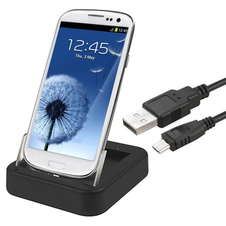 BasAcc Black 2-in-1 Cradle with Charger for Samsung Galaxy S III/ S3