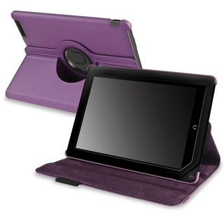 INSTEN Purple Leather Swivel Phone Case Cover for Barnes & Noble Nook HD+