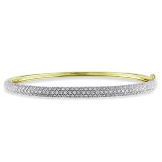 Miadora 14k Yellow Gold 7/8ct TDW Diamond Bangle (G-H, I1-I2)