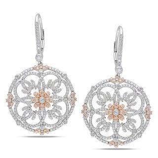 Miadora 14k Two-tone Gold 2ct TDW Diamond Earrings (G-H, SI1-SI2)