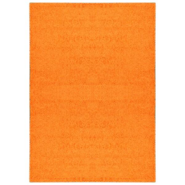 Shag Solid Orange Area Rug 5 X 7 15056727