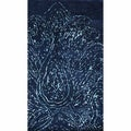 nuLOOM Hand-knotted Paisley Navy New Zealand Wool Rug
