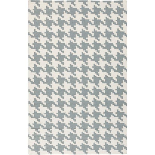 Handwoven Leduc Teal Wool Rug (9' x 13')